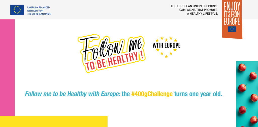 Follow Me to be Healthy with Europe: the #400gChallenge turns one year old