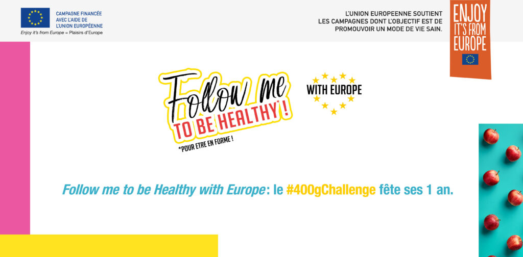 Follow me to be Healthy with Europe : le #400gChallenge fête ses 1 an
