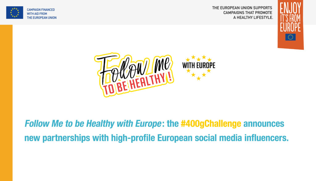 The #400gChallenge announces new partnerships with high-profile European social media influencers